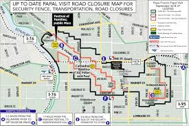 Septa Rail Map Up To Date Map For Papal Visit With Security Perimeter Vehicle