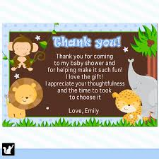 baby shower thank you card wording best inspiration from