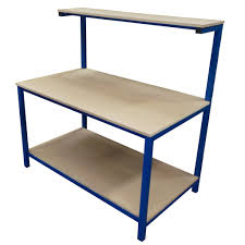 packing table with shelves 1500lx900w model d packing table packing tables by spaceguard