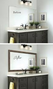 Mirror In A Bathroom How To Build A Wood Frame Around A Bathroom Mirror Bathroom