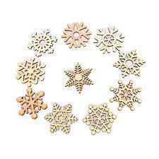 wooden snowflake ornaments ebay