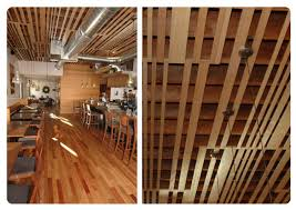 Wood Slat Ceiling System by Genoa Accanto Siteworks Design Buildsiteworks Design Build