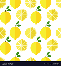 seamless lemon pattern seamless lemon pattern on white background vector image