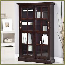 Small Bookcases With Glass Doors Bookcase With Glass Doors Design Idea Door Design