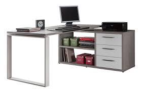 bureau gris laqué bureau d angle reversible ufficio blanc gris beton structure blanc laque
