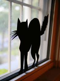 Black Cat Halloween Crafts How To Make Halloween Window Silhouettes How Tos Diy