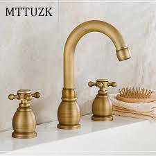 Copper Bathroom Faucet by Bathroom Sink Faucet U0026amp Cold 3 Holes Promotion Shop For