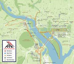 Washington Dc City Map by Marine Corps Marathon 10k Maps Wtop