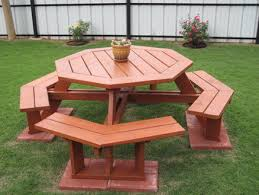 diy free eight sided octagon picnic table plans plans free