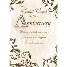 to a special anniversary card finished from ocado