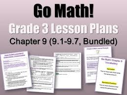 go math grade 3 chapter 9 lessons 9 1 9 7 with journal prompts