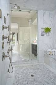 Bedroom Accent Wall With Snazzy Penny Tiles Decoist by Stylish White Subway Tile Bathroom House Pinterest White