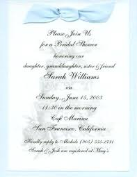 bridal shower invitations wording exle baby shower invitation wording meichu2017 me
