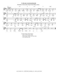 hymn in the ten commandments