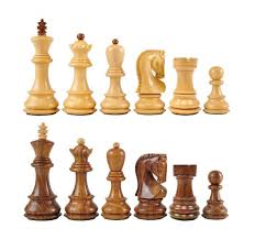 zagreb wood chess pieces with 3