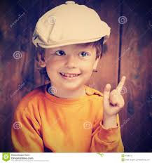 happy boy in a country style stock photo image 40989711