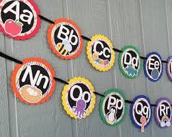 How To Decorate Nursery Classroom Classroom Alphabet Etsy