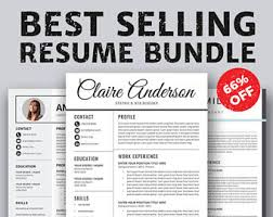 Resume And Cv Templates Resume Template And Planner Inserts By Resumedesignco On Etsy