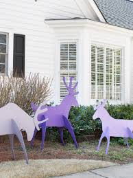 Christmas Yard Decorations Plywood by Make Easy To Store Holiday Yard Reindeer Hgtv