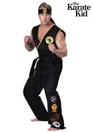 Authentic Halloween Costumes Adults Authentic Karate Kid Cobra Kai Costume Men Halloween Costumes
