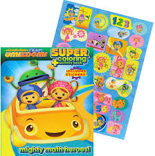 nickelodeon coloring book amazon com team umizoomi jumbo coloring book with stickers 144