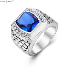 blue man rings images 2017 vintage charm jewelry with huge blue stone 925 sterling jpg