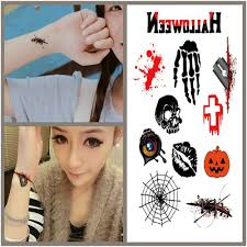 halloween body stickers compare prices on scar temporary tattoo online shopping buy low