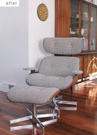 before u0026amp after eames recliner replica gets reupholstered