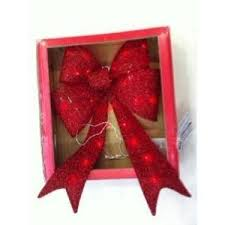 battery operated lighted christmas bows 24 in red battery operated tinsel lighted bow ty290 1114 at the