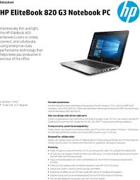 light notebooks with long battery life hp elitebook 820 g3 notebook pc pdf