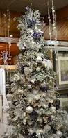 frosted purple white christmas tree pinned by ton van der veer
