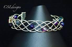 bracelet youtube images Beaded organic braided wirework bracelet jpg