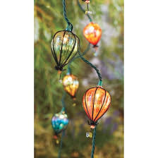 String Of Flower Lights by 10ct Decorative String Lights Iridescent Tear Drop Plastic Cover