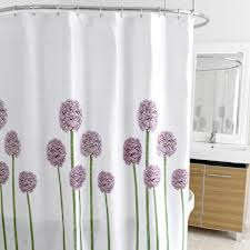 Gray Fabric Shower Curtain Allium Splash Fabric Shower Curtain Curtain U0026 Bath Outlet