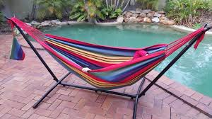 outdoor stand for hammock with standing hammock