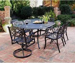 Patio Furniture Dining Set - home styles biscayne black cast aluminum patio dining set seats