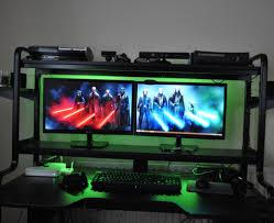desk gaming setup 1tohdl awesome gaming computer desk setup