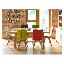 oak table and chairs gigi oak table and six gigi chairs harlequin wool holloways