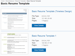 Free Online Resume Search by 4 Websites To Get Free Resume Templates For Word