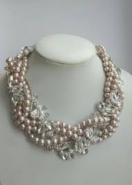 choker style pearl necklace images Navy pearls classic style fashion week pinterest jpg