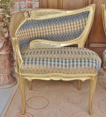 old vtg french louis xv asymmetrical gilt wood cane u0026 fabric