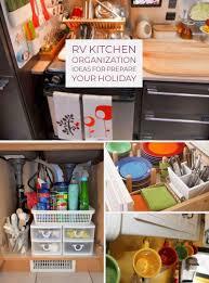 rv kitchen cabinet storage ideas majestic 30 awesome rv kitchen organization ideas for