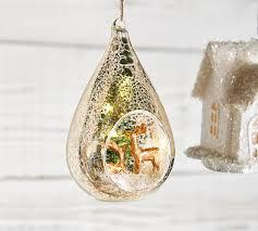 lit mercury teardrop ornament pottery barn