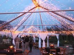clear wedding tent clear top tent rental with twinkle lights by proem party event