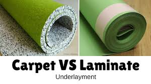can i install laminate flooring carpet underlayment