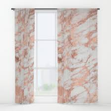 Pink And Gold Curtains Blush Gold Quartz Window Curtains By Naturemagick Society6