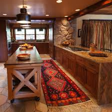 Decorative Kitchen Islands Beautiful Rustic Ski Lodge Kitchen Interior With Wheeled Kitchen