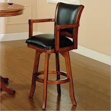 Bar Stool With Back Bar Stool With Back And Arms Padded Swivel Bar Stool With