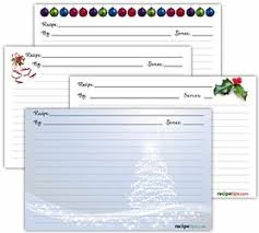 printable christmas recipe cards how to cooking tips