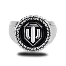 wedding bands world hot wot world of tanks logo rings metal jewelry for